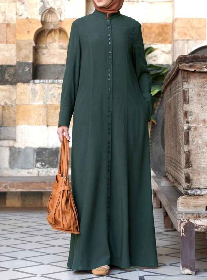 This Shirtdress is perfect for layering. Love the buttons! From SHUKR Islamic Clothing. #hijab friendly