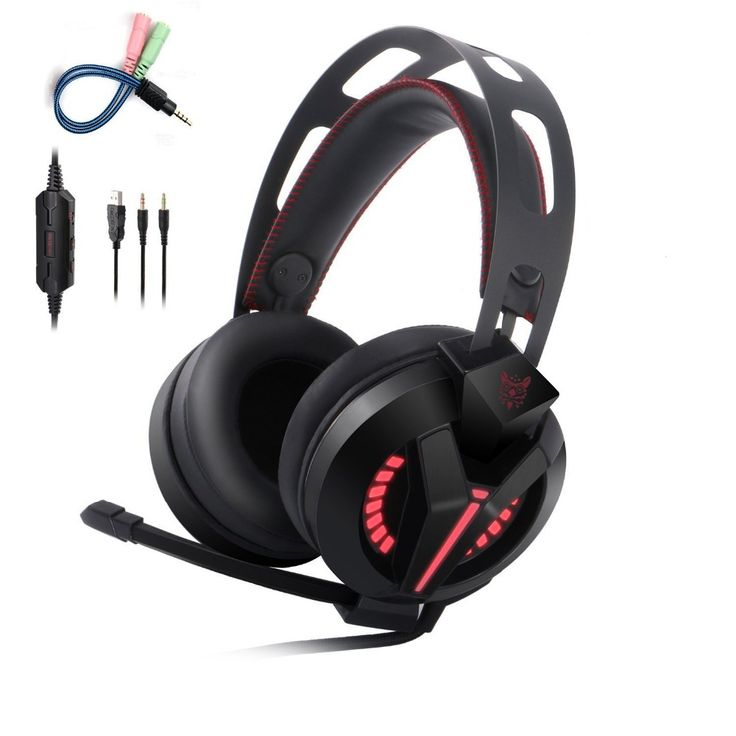 Professional USB+3.5MM Stereo Audio Gaming Headphone With Microphone LED Over-Ear PC Gamer Headset Head Phones For Computer M180