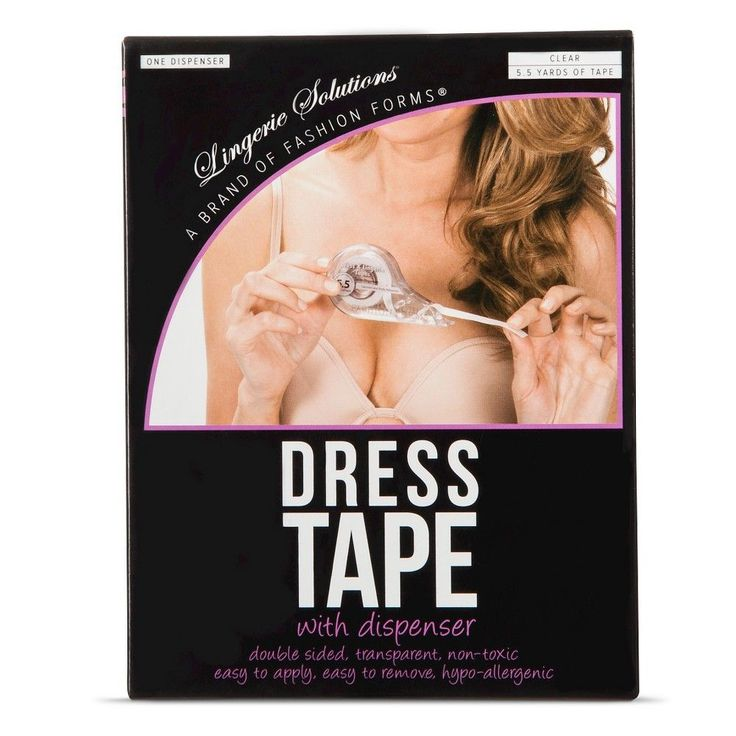 Fashion Forms Women's Dress Tape With Dispenser, Clear
