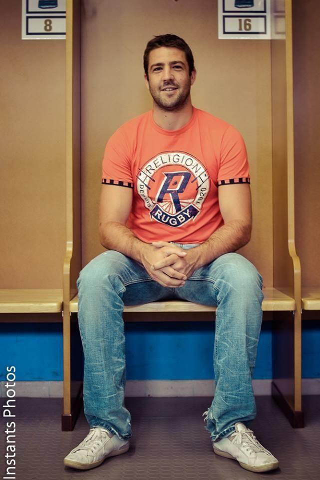 Tee shirt Religion Rugby porté par Remi Talès (Castres)
