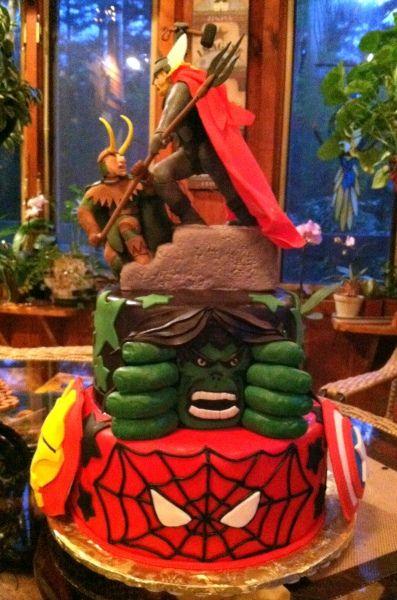 Avengers cake..mean!