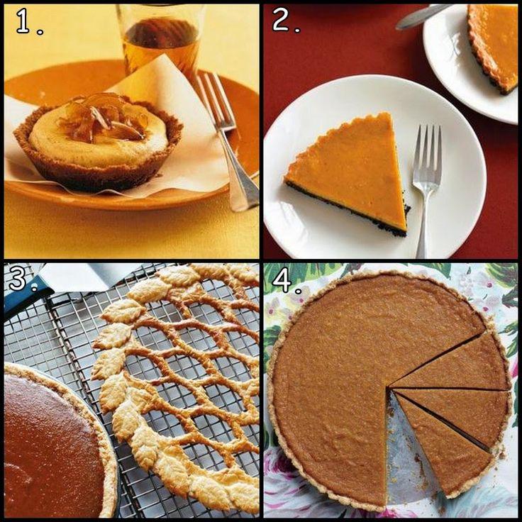 4 Martha Stewart Pumpkin Pie / Tart Recipes