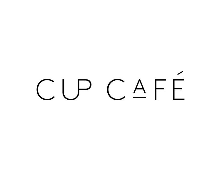 How clever is this: A cup inside the word cup - designed by Casey Martin, US