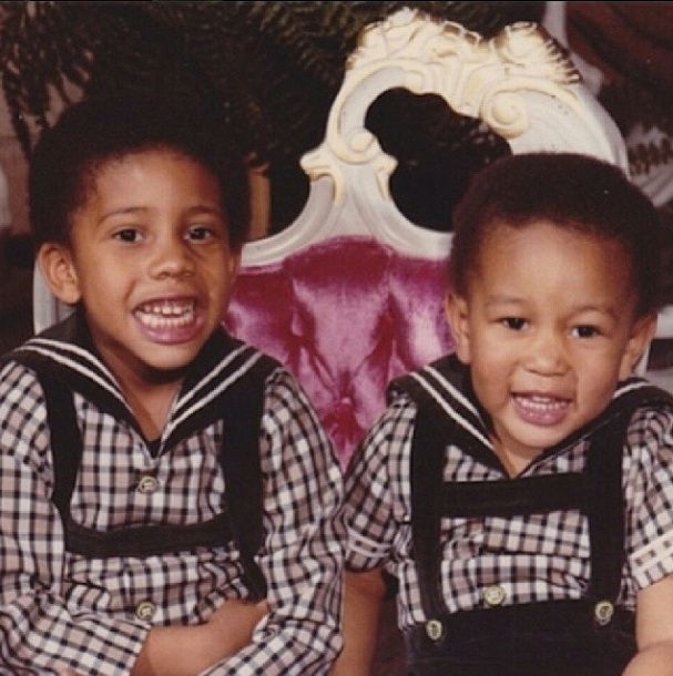 John Legend in childhood with brother
