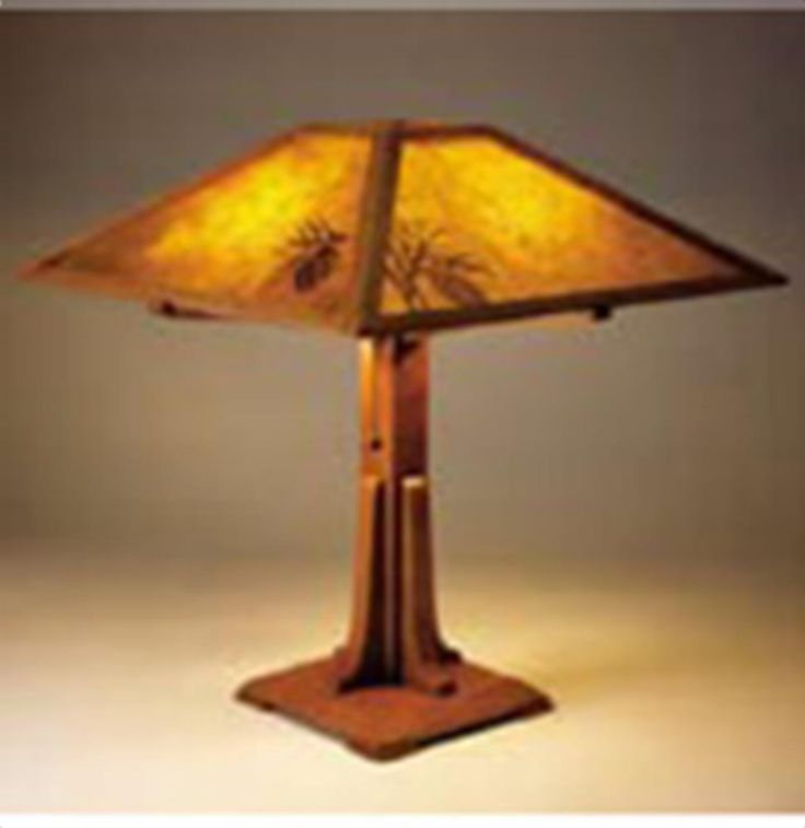 Arts crafts lamp plan woodworking plan from wood for Crafting wooden lamps