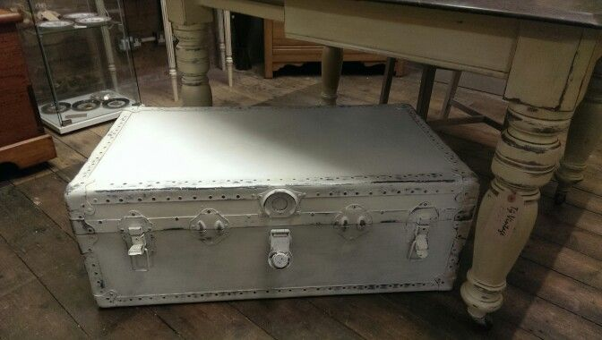Steamer Trunk, lovely vintage trunk, hand painted using ASCP, waxed, distressed, all catches working, £110