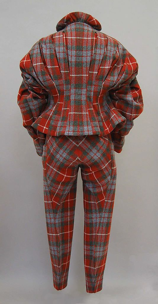 Suit (back view)   Vivienne Westwood   United Kingdom, Autumn/Winter 1991-1992   Wool, synthetic   The Metropolitan Museum of Art, New York