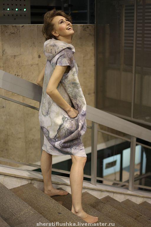 """Купить Платье """"Дух Тумана"""" - дизайнерское платье, коллекционное платье, единственный экземпляр"""