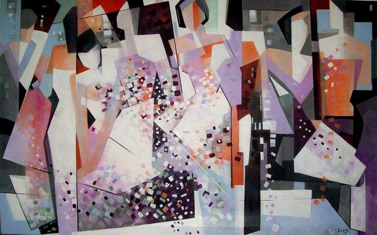 Prakash Ella Bounded with love 2014 Painting 160x100cm  #OpenArt #Milano #arte #Milan #concorso #artcontest #associazione   www.concorsobuenosaires.com