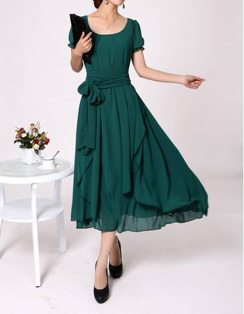 Tea Length Mother Groom Dresses | Chiffon Short Sleeves Tea Length Mother of the Bride, Groom Dresses ...