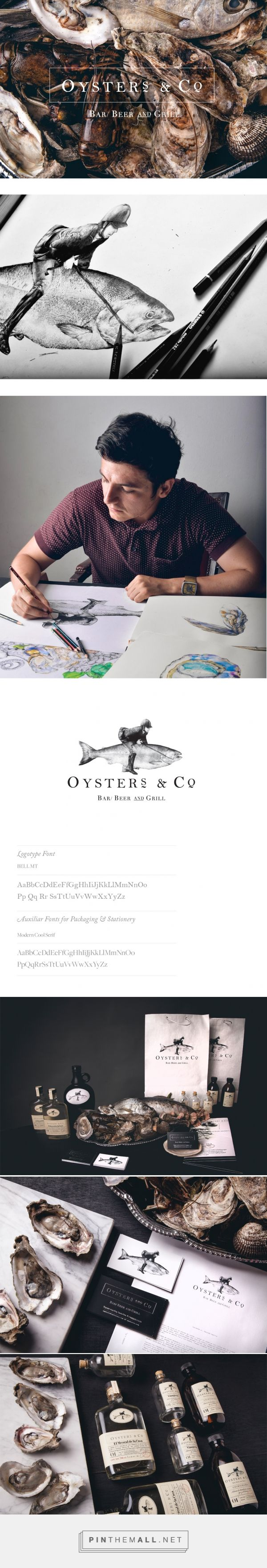 Oyster´s & Co. on Behance by Daniel Babara curated by Packaging Diva PD. Corporate identity project for an oyster´bar, covering art direction, photography, brand design, packaging & web.