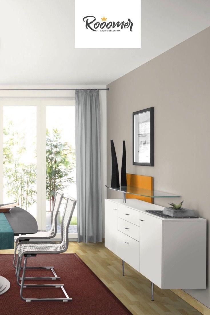 Wohnzimmer in der Wandfarbe Warm Grey | Haus deko, Warmes ...
