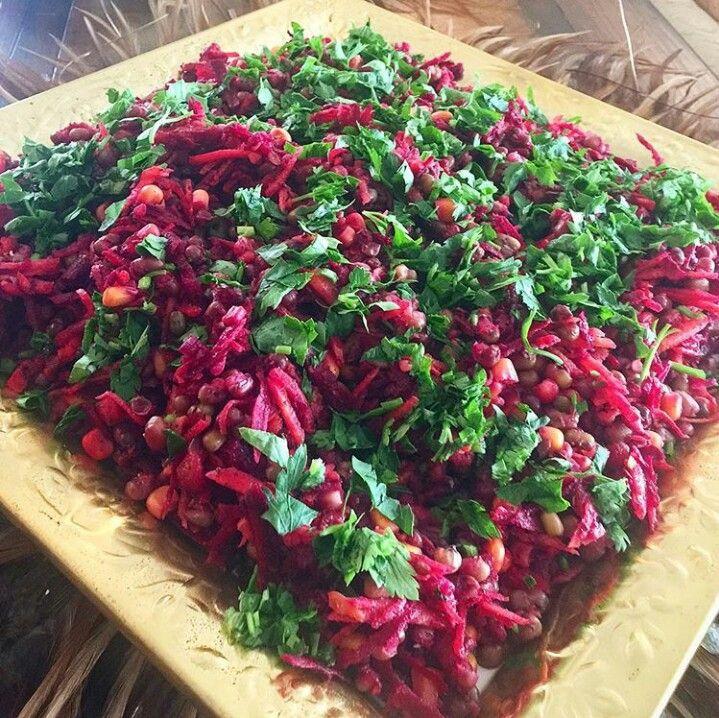 Havuçlu pancarlı maş fasulyesi salatası
