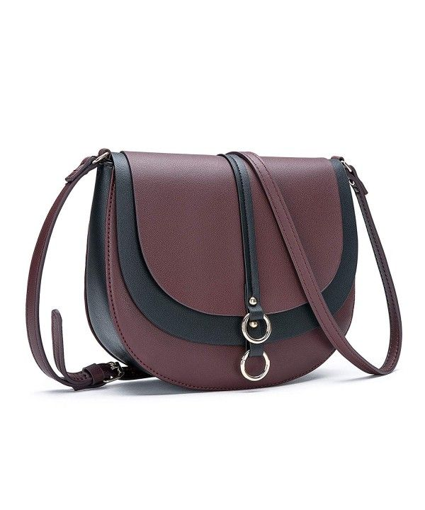 abb0ddc525dfa6 Women's Bags, Crossbody Bags, Women Crossbody Bag Saddle Shoulder Bag Small  Purse Brown Hasp