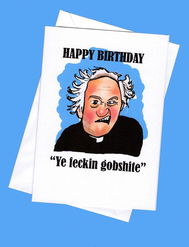 Fr. jack birthday card. father jack, father ted card, father ted cards,funny birthday card, funny birthday cards, fr.ted by karenflanart on Etsy