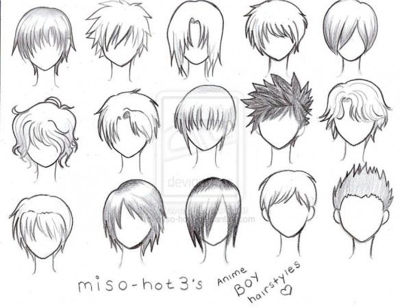 Reference For Drawing Short Hair Animedrawing Anime Drawing Doodles Anime Boy Hair Manga Hair Anime Boy Sketch