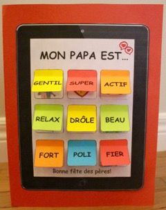 "French Father's Day! Forget the necktie! Dads will LOVE this Peek-a-boo IPAD! More than 60 ""apps"" to choose from! A poem as well as an activity for your literacy center is also included!"