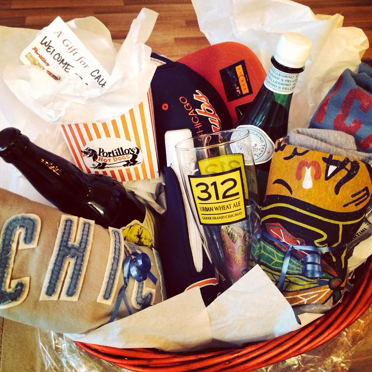 Welcome to Chicago gift basket #portillos #revolutionbrewery #blackhawks #cubs #bears