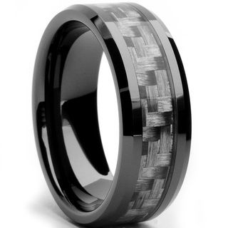 @Overstock.com - Oliveti Black Ceramic Men's Grey Carbon Fiber Inlay Ring (8 mm) - Men's  grey carbon fiber inlay ringBlack ceramic jewelryClick here for ring sizing guide  http://www.overstock.com/Jewelry-Watches/Oliveti-Black-Ceramic-Mens-Grey-Carbon-Fiber-Inlay-Ring-8-mm/7896220/product.html?CID=214117 $37.99