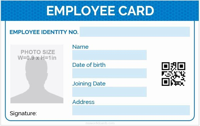 Free Id Card Template Word Inspirational 5 Best Employee Id Card Format In Word V 2020 G