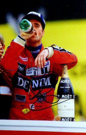 Nigel Mansell signature