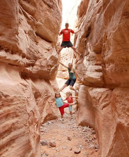 Glad to see other people do this.   I love it and I know my kids do too.  (Kids climb canyon hike)