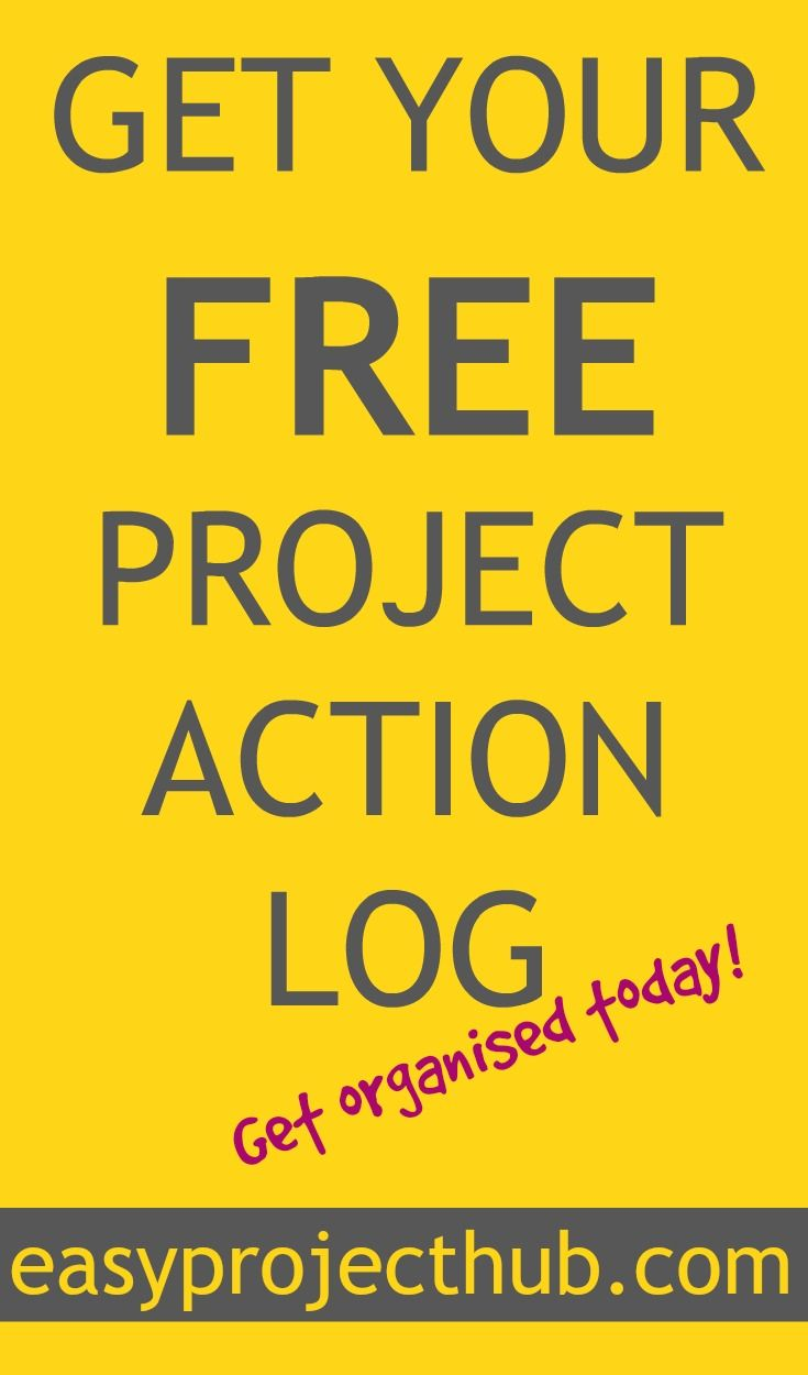 Click through and follow the easy steps to get your absolutely free project action log. This is a great tool for anyone running a project or even just for those who have a really busy schedule.