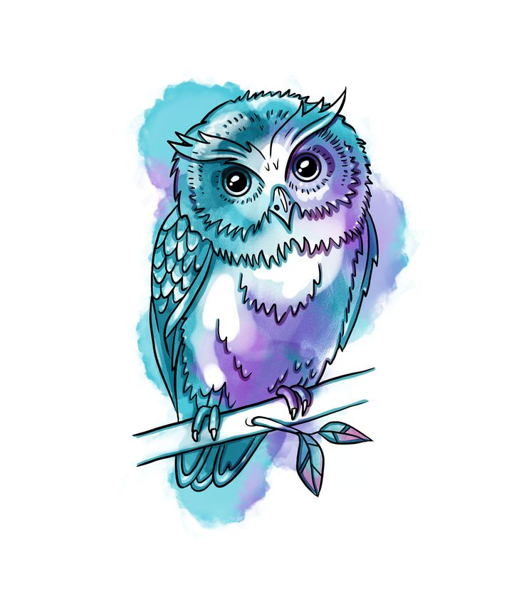 #owl #watercolor #drawing #art #tattoo #design