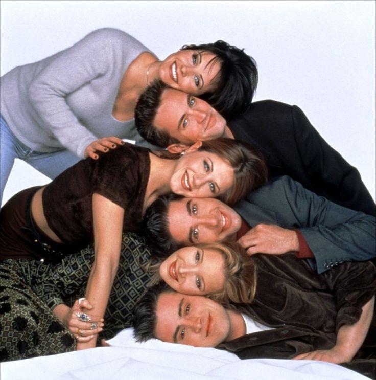 * Friends (1994 - 2004) NBC. Jennifer Aniston, Courteney Cox, Lisa Kudrow, Matt LeBlanc, Matthew Perry, David Schwimmer