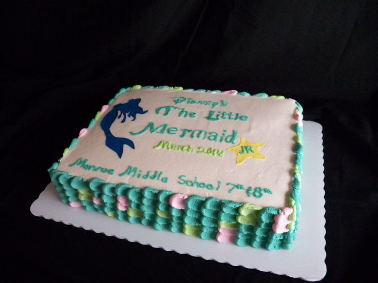 Little Mermaid Sheet Cake Using Wilton Sugar Paper For