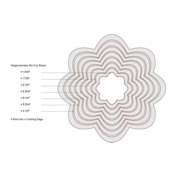 Wykrojniki Sizzix - Framelits Die Set 7PK - Flowers - PAPERCONCEPT