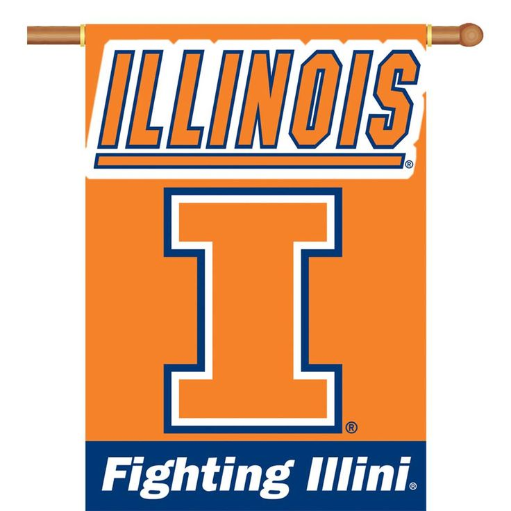 Illinois Fighting Illini 2-Sided Outdoor Banner Flag