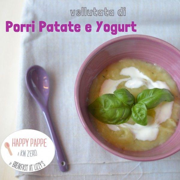 Ricette svezzamento: la vellutata dei grandi (porri, patate e yogurt) [weaning recipe: yogurt, potatoes and leeks cream]