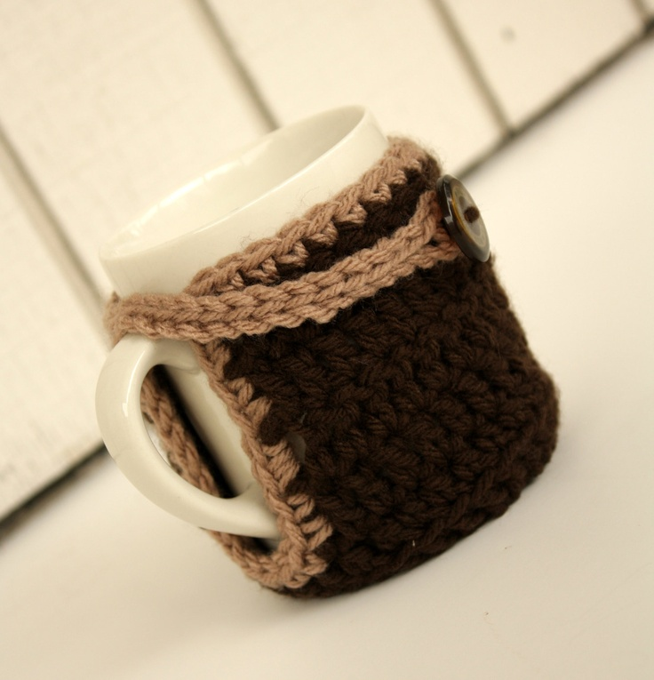 Mejores 102 imágenes de Crochet Mugs en Pinterest | Punto de crochet ...