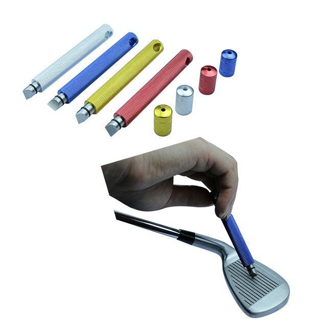 Wholesale Clubs de golf Iron Wedge u & V groove sacapuntas cleaner Herramienta de limpieza herramienta de ranurado 4 colores de cabeza de palo de golf