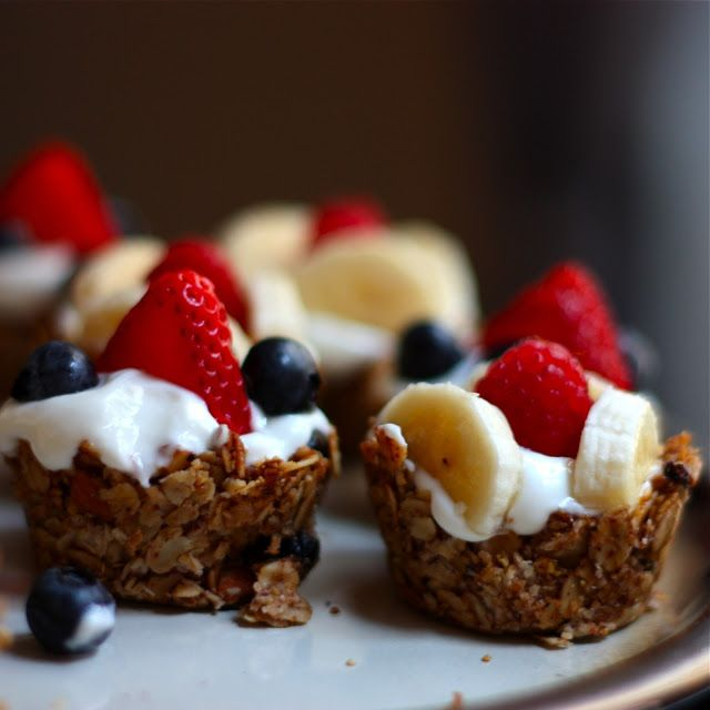Mini Granola Cups with Yogurt & Berries - Get Off Your Tush and Cook!