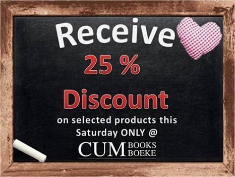 Birthday Blessings from CUM Books!  Visit CUM Books this Saturday and receive 25% Discount on selected products.
