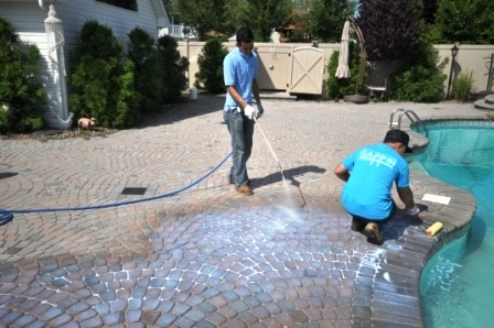 Sealing pavers patios and driveways Nassau and Suffolk county New York Cleaning a paver floor could add a refreshing look to your all back yard and outdoor living spaces. Gappsi offers the latest technology and products to get you sealing project done professionally and cost effective. Gappsi sealing process starts with the cleaning of the pavers using a low pressured high volume pressure washing system 631-670-6868