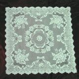 "Table Linen Ecru Rose Square Tablecloth 36""x36"""