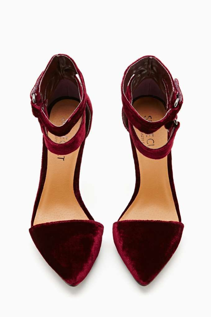 Shoe Cult Faye Platform Pump - Oxblood Velvet