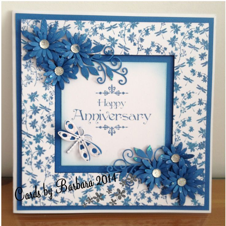 Made using Sentimentally Yours Dragonfly Background stamp, sentiment from the Baroque Collection Flowers are Delicate Daisies by Sue Wilson &Sue Wilson Petite Vinery swirls