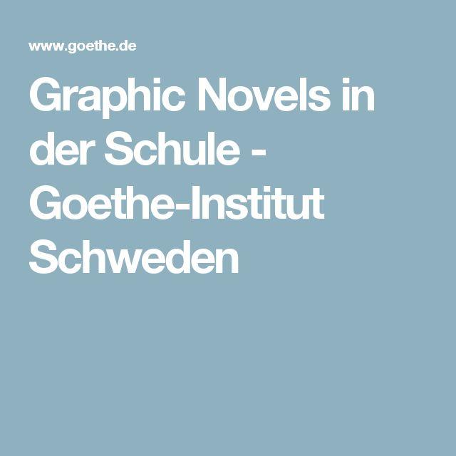 Graphic Novels in der Schule - Goethe-Institut Schweden