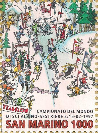 Briefmarke-Europa-Südeuropa-San Marino-1000-1997-Campionato del Mondo di sci alpino-1703