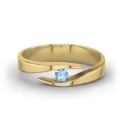 Gouden ring Summer 21Collection Ring met Blauwe Topaas (Geelgoud 750)