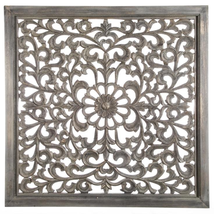 Carf Antique grey wall panel curl - Wandpanelen - Wanddecoratie - PTMD