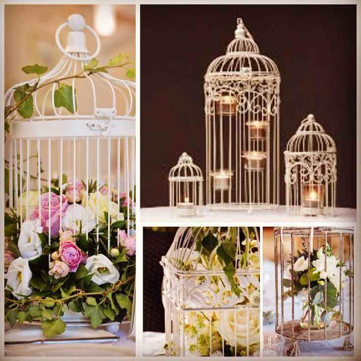 We hire gorgeous soft ivory metal birdcages, with these pretty little tea lights holders, just gorgeous for your wedding table centrepieces.