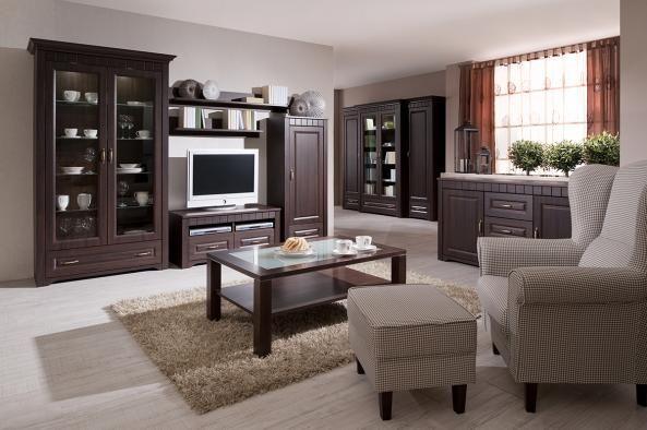 Obývačka Decodom: TIROL  prevedenie: Dub pílený bardolíno schoko [Living room: Tirol colours: Oak bardolino schoko]