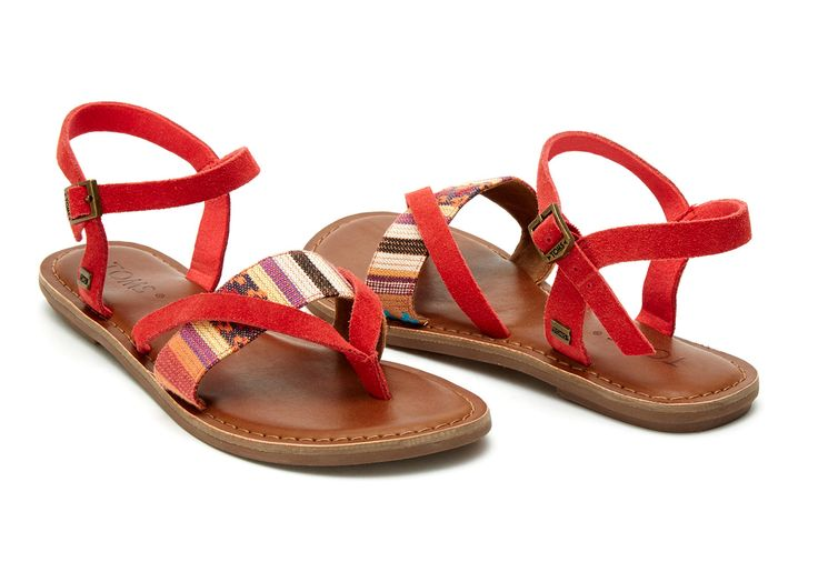 Navy Multi Woven Women's Lexie Sandals | TOMS