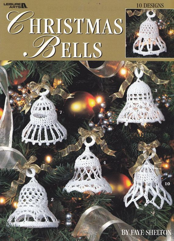 Christmas Bells Crochet Patterns  12 Thread by PaperButtercup, $7.00