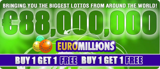 Play this massive EuroMillions lotto with playlottworld.com for the draw later today and get a FREE ticket with every one that you BUY.